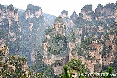 Featured mountain in Zhangjiajie,China