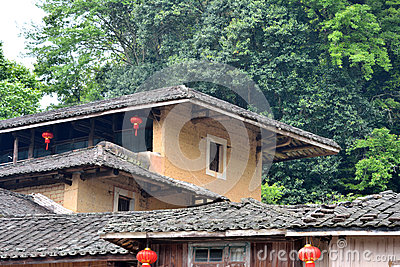 Roof and eave, Chinese traditional residence