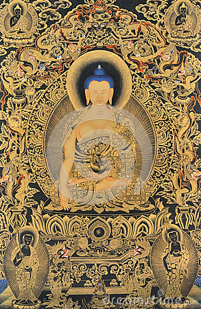 Free Featured Tibet Traditional Painting Royalty Free Stock Image - 34926866