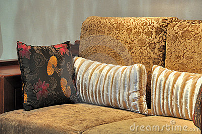 Featured wooden chair and pillow
