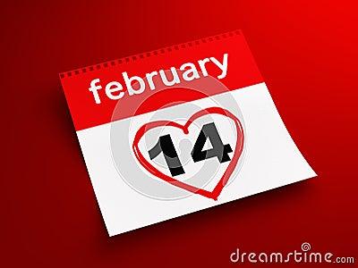 February 14th calendar