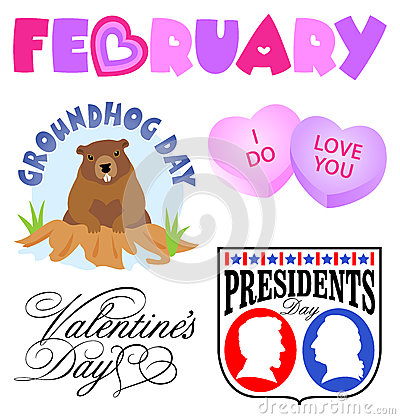 February Events Clip Art Set/eps
