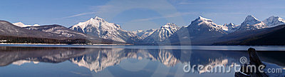 February Lake McDonald Panorama