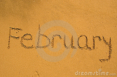 February  in the sand