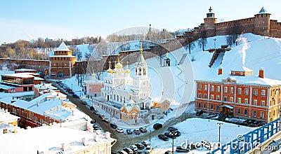 February view Kremlin Nizhny Novgorod
