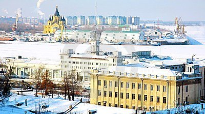 February view port Strelka Nizhny Novgorod
