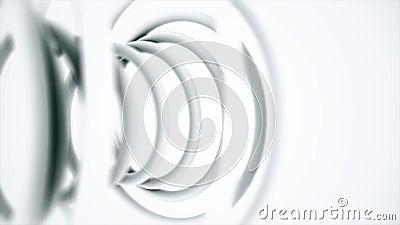 Feche acima para a mola plástica abstrata isolada no fundo branco Bobina plástica de Monochrom, fundo espiral filme