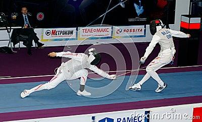 Fechten. Weltcup 2010. Redaktionelles Stockfoto