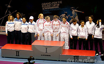 Fechten. Weltcup 2010. St Petersburg Redaktionelles Bild