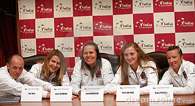 Fed cup 2010 Czech republic vs. Germany Editorial Photography