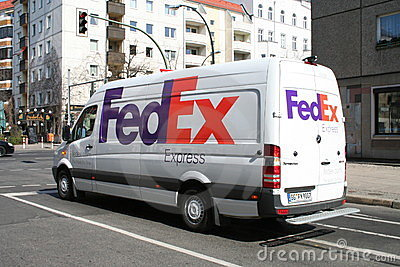 Fed Ex Van Editorial Stock Image