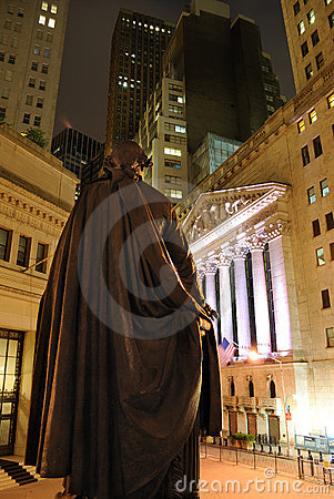 Federal Hall on Broad Street Editorial Stock Image