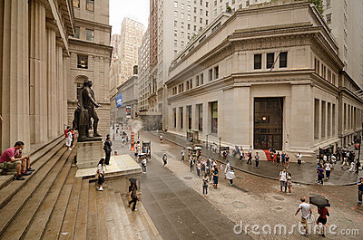 Federal Hall at Wall Street Editorial Image