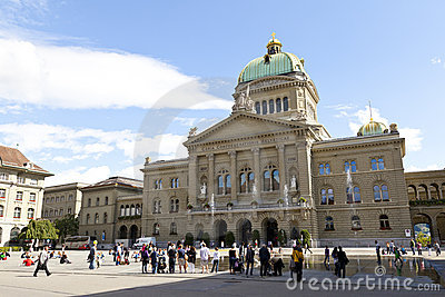 Federal Palace of Switzerland in Bern Editorial Stock Photo