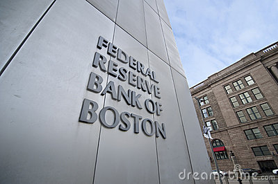 Federal reserve bank of boston Editorial Stock Photo