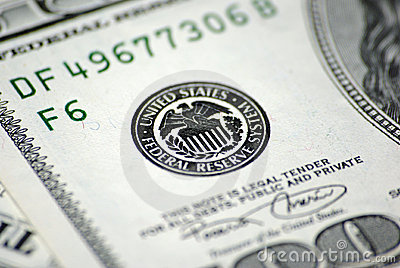 Federal Reserve System on dollar banknote