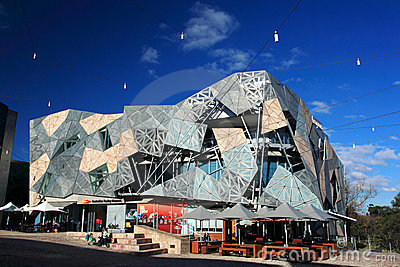 Federation Square.Melbourne city Editorial Stock Photo