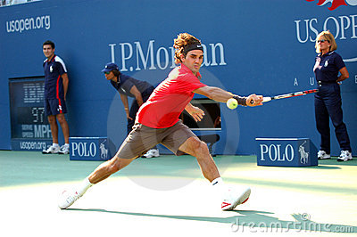 Federer Roger champion US Open 2008 (86) Editorial Photo