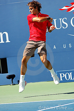 Federer Roger at US Open 2008 (11) Editorial Photography
