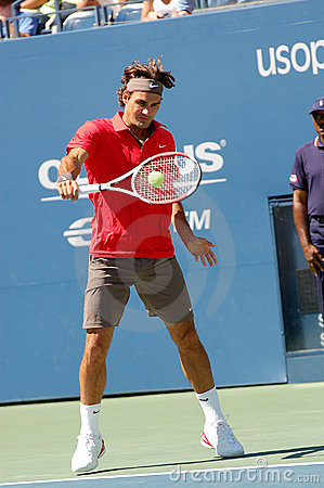 Federer Roger at US Open 2008 (2) Editorial Stock Image