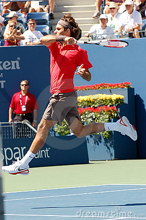 Federer Roger at US Open 2008 (6) Editorial Photo