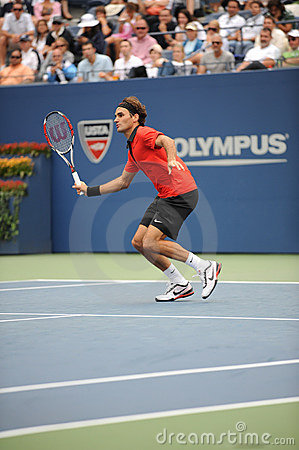 Federer at US Open 2009 (10) Editorial Stock Image