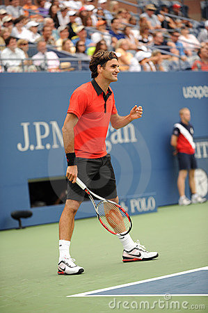 Federer at US Open 2009 (18) Editorial Photo