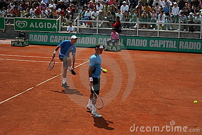 Federer and Wawrinka in Rome Editorial Stock Photo