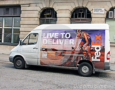 FedEx Van Editorial Image