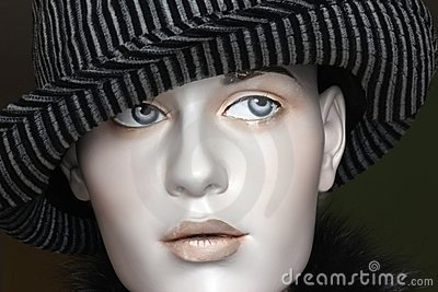 Fedora hat on mannequin s head