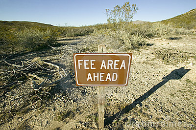 Fee Area sign