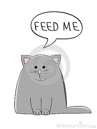 Free Feed Me Cat Stock Image - 66639461