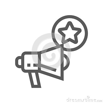 Free Feedback And Testimonials Vector Line Icon Royalty Free Stock Images - 127023399