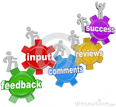 Free Feedback People Marching Up Gears Input To Success Royalty Free Stock Photos - 27636558