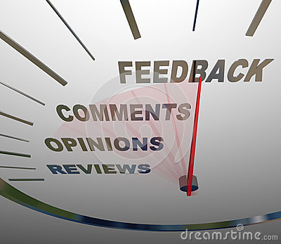 Feedback Speedometer Measuring Comments Opinions Reviews