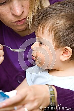 Feeding baby boy