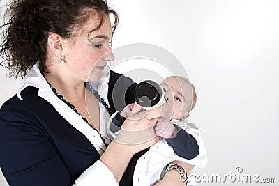 Feeding her child