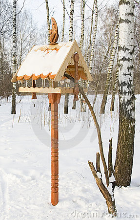 Free Feeding Trough For Birds Royalty Free Stock Images - 696329