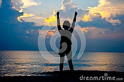 Feel free on the beach