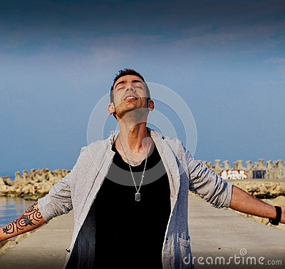 Free Feeling Free And Powerful As A God Royalty Free Stock Image - 108546086