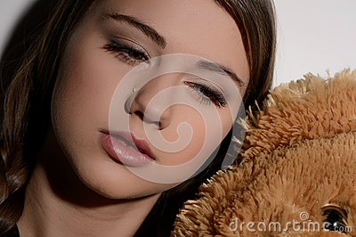 Feeling lonely. Close-up of teenage girl crying and looking away