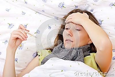 Feeling sick and having high fever