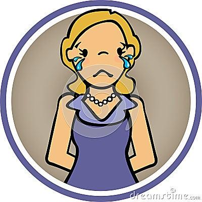 Feelings Woman Cry and sad