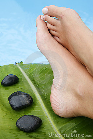 Free Feet By Pool Stock Photo - 2449240