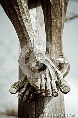 Feet on the Cross