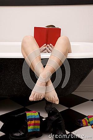 Feet crossed book