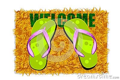Feet on Door Mat