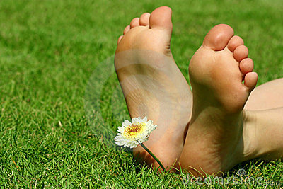 Feet and the flower