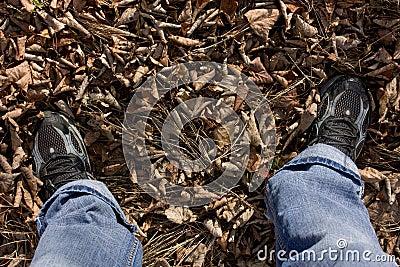 Feet on leaves