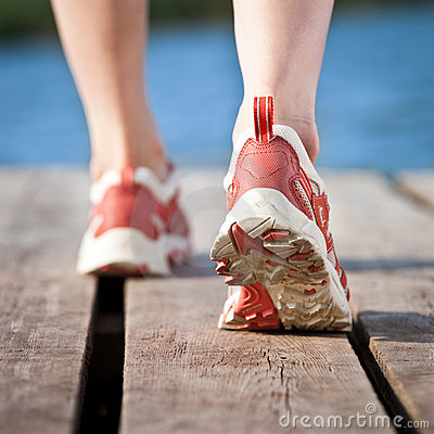 Free Feet Of Jogging Person Royalty Free Stock Photos - 22776218